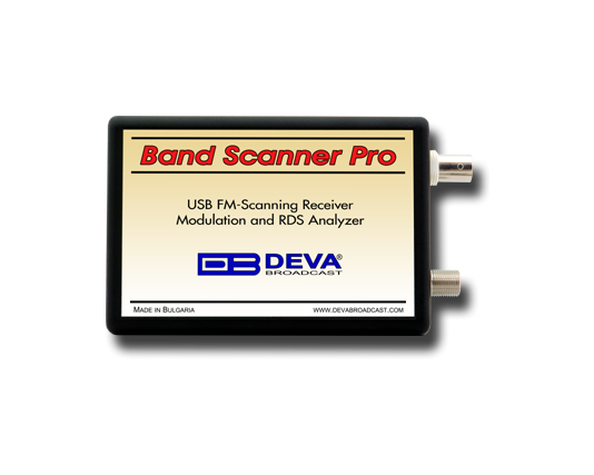 DEVA Band Scanner PRO FM Band Spectrum & Mod Analyzer, RDS / RBDS Decoder-Reader