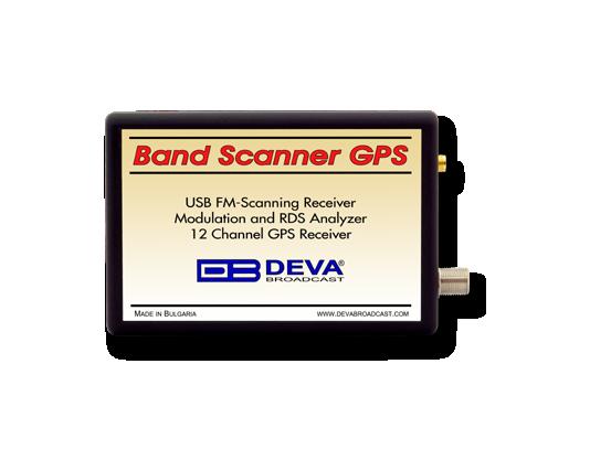 DEVA Band Scanner GPS, FM Band Spectrum & Mod Analyzer, RDS / RBDS Decoder with built-in GPS Receiver
