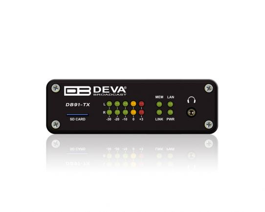 DB91TX Codificador de audio sobre IP, DEVA Broadcast
