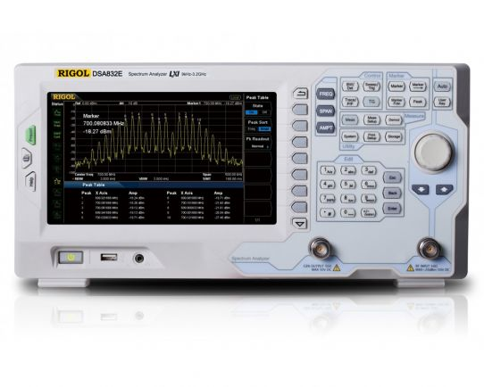 DSA832E-TG 3.2 GHz Spectrum Analyzer with tracking generator, Rigol