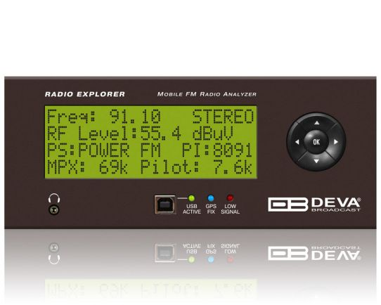 Radio Explorer - Mobile FM Radio Analyzer, DEVA Broadcast
