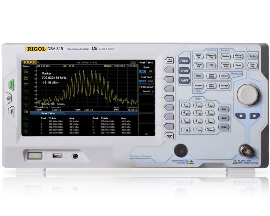 DSA815 1.5 GHz Spectrum Analyzer, Rigol