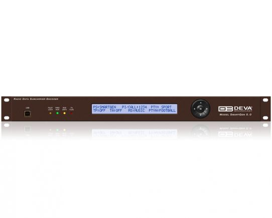 Smart Gen 5.0 Professional Dynamic RDS/RBDS Encoder with LAN, USB & RS-232 Connectivity, DEVA Broadcast