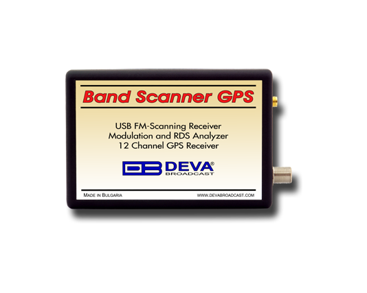 DEVA Band Scanner GPS, FM Band Spectrum & Mod Analyzer, RDS / RBDS Decoder with built-in GPS Receiver