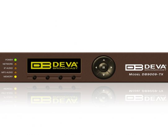 DEVA DB9009TX Audio IP Codificador profesional de Multiformato