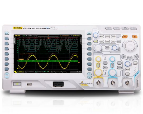 MSO2202A-S 200MHz, 2GSa/s Mixed Signal Oscilloscope & WF Generator