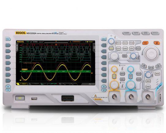 MSO2302A-S 300MHz, 2GSa/s Mixed Signal Oscilloscope & WF Generator