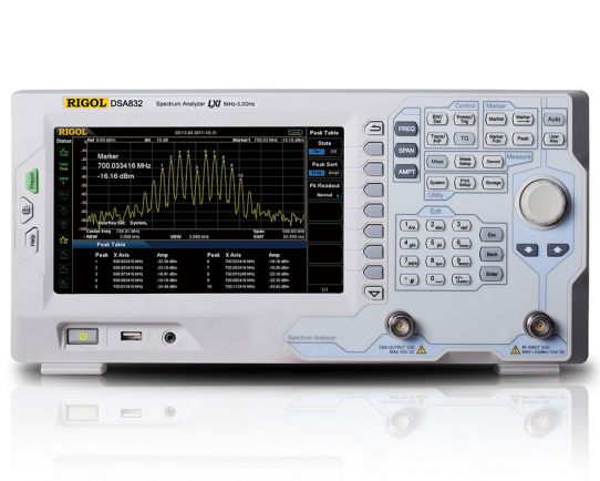 DSA832 3.2 GHz Spectrum Analyzer, Rigol