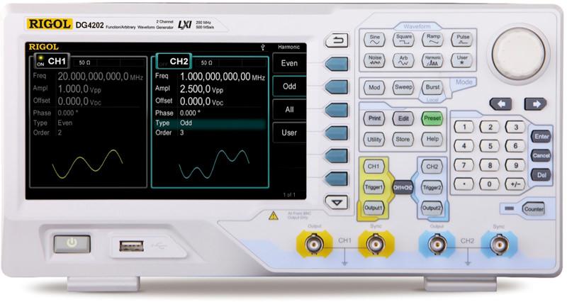DG4202 Функционален Генератор 200MHz, Rigol