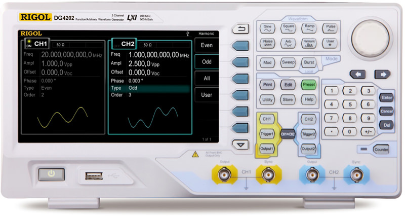 DG4202 Waveform Generator 200MHz, Rigol