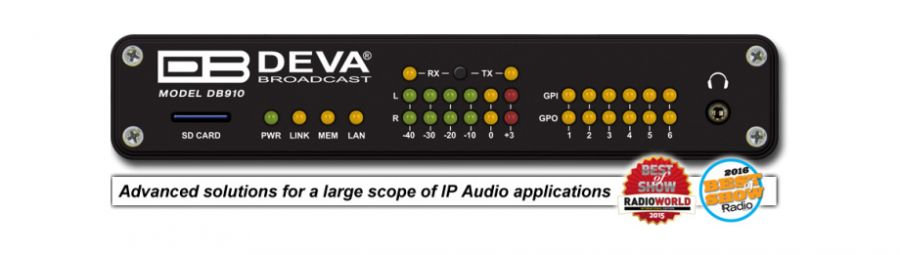 DEVA DB910 Codificador dual de IP Audio