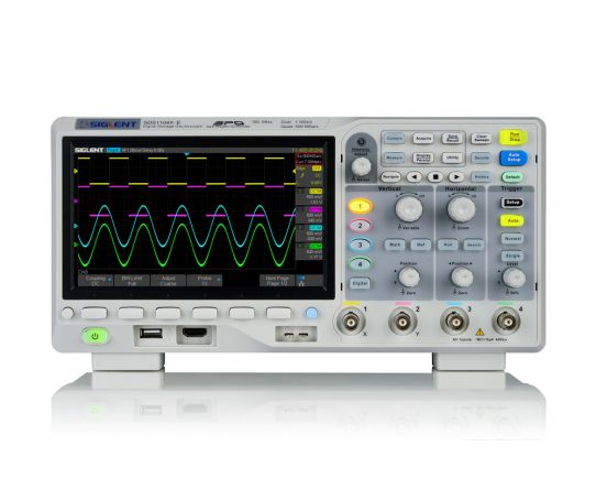 SDS1104X-E Osciloscopio Digital 100MHz, 1GSa/s, Siglent