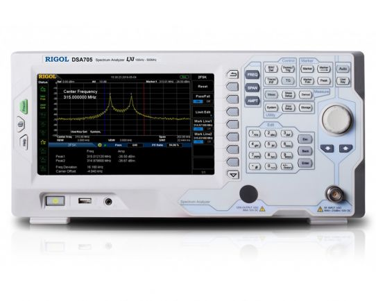 DSA705 500 MHz Spectrum Analyzer, Rigol