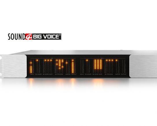 SOUND4 BIG VOICE² Versión Base, Procesador dinámico de micrófono, de 3 bandas