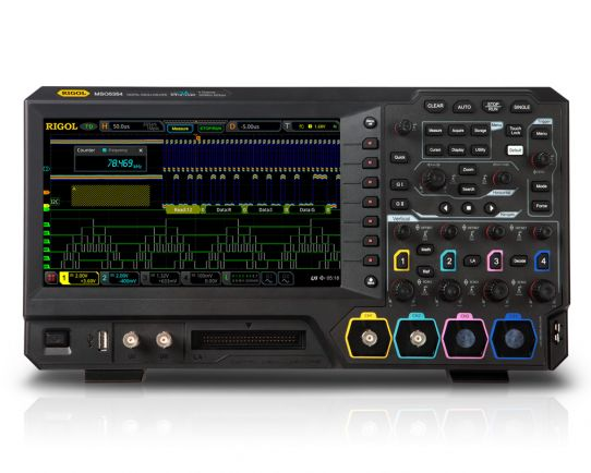 MSO5104 100MHz, 8GSa/s, 4 analog + 16 channel digital oscilloscope, Rigol