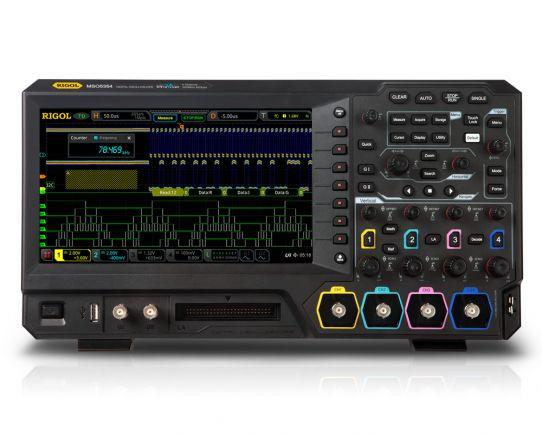 MSO5204 Osciloscopio digital de 200MHz, 8GSa/s, 4 analógicos + 16 canales digitales, Rigol