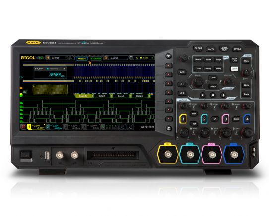 MSO5354 300MHz, 8GSa/s, 4 analog + 16 channel digital oscilloscope, Rigol