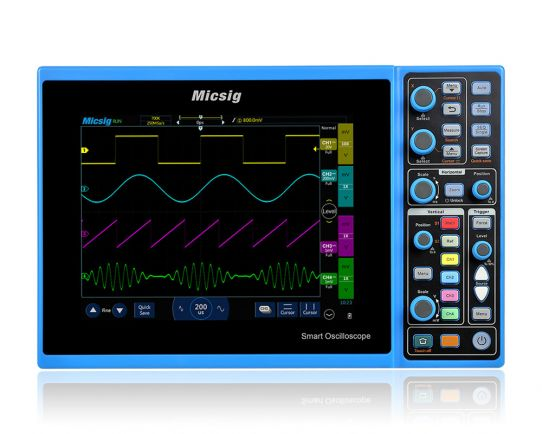 STO1104C Plus 4-Ch, 100MHz, 1GSa/s Smart Touchscreen Oscilloscope with UART, CAN, LIN, SPI and I2C decoding included, Micsig