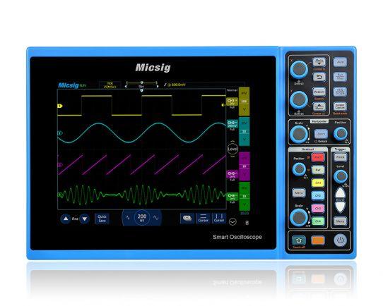 STO1104C 4-Ch, 100MHz, 1GSa/s Smart Touchscreen Oscilloscope, Micsig
