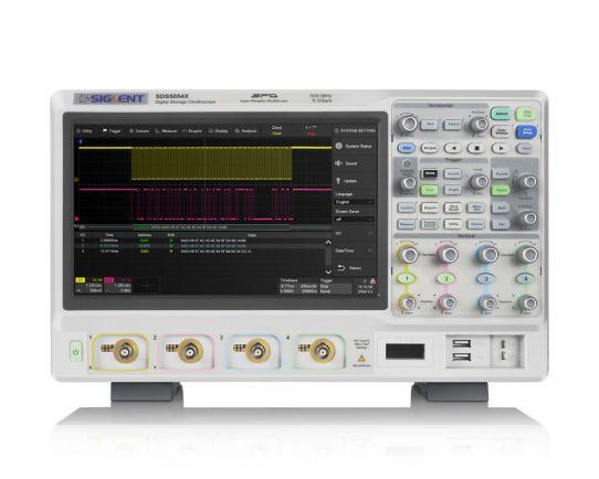 SDS5054X 4-Ch, 500 MHz, 5 GSa/s SPO Osciloscopio digital, Siglent