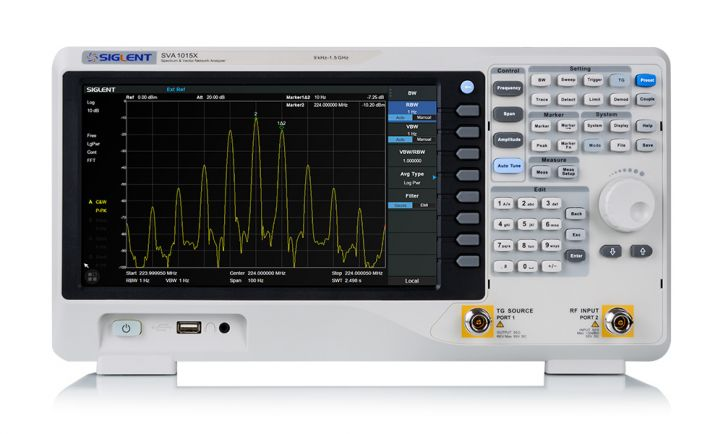 SVA1015X 1.5 GHz Spectrum & Vector Network Analyzer, Siglent