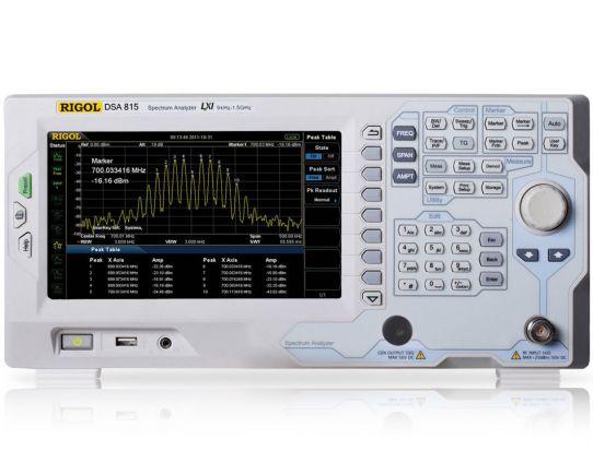 DSA815 1.5 GHz Analizador de Espectro, Rigol