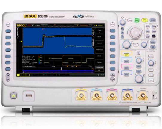 Osciloscopio Digital 1GHz, 5GSa/s, Rigol DS6104