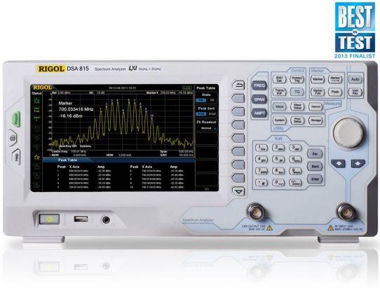 DSA815-TG 1.5 GHz Analizador de Espectro con tracking generador, Rigol